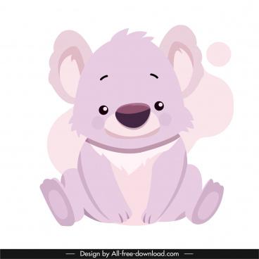 koala icon cute handdrawn cartoon sketch