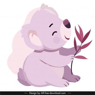 koala icon playful sketch cute cartoon character