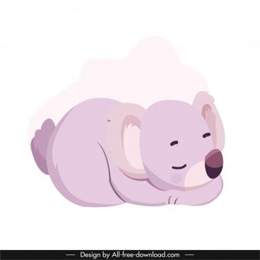 koala icon sleeping gesture cute cartoon character