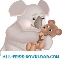 Koala with Teddy Bear