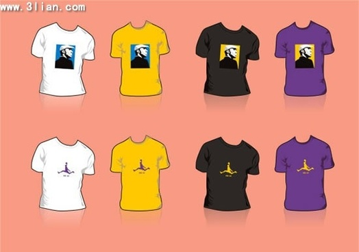 tshirt templates colored modern design