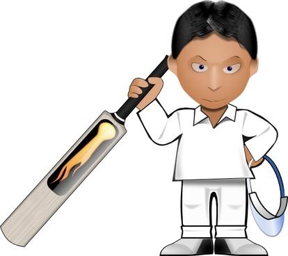Kobo Cricket Toon clip art