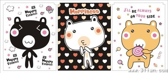 card cover templates cute kitty icon sketch