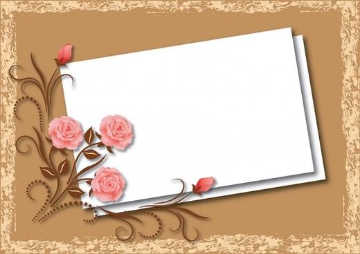 card background template elegant rose classic decor