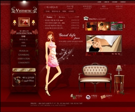 korean beauty salon psd