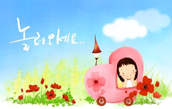 korean children illustrator psd 52