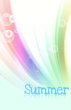 korean style summer background layered psd 3