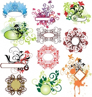 document decorative design elements elegant shape retro ornament