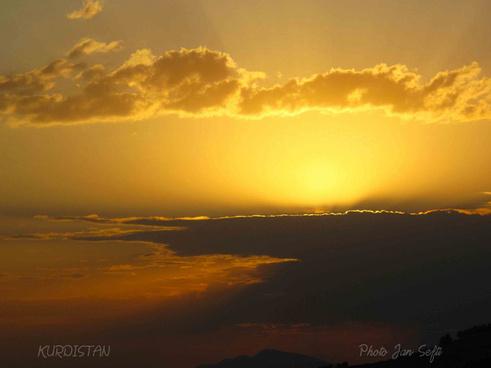 kurdistan visions sunset