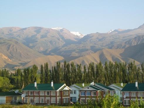 kyrgyz republic landscape mountains