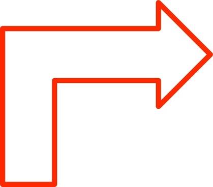 L Shaped Arrow Set clip art