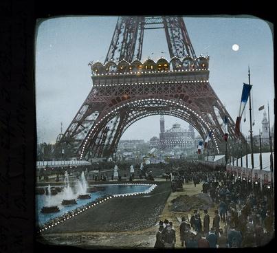 la tour eiffel et le palais du trocadero 1889