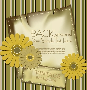 label background daisy vector