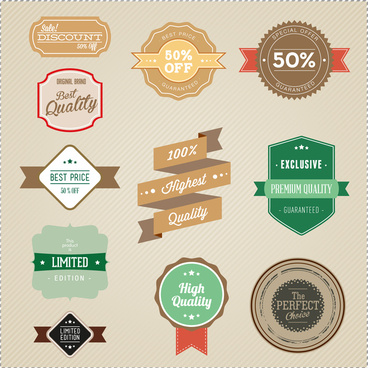 label badge and banner collections