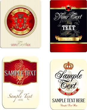 labels templates luxury elegant vintage royal decor