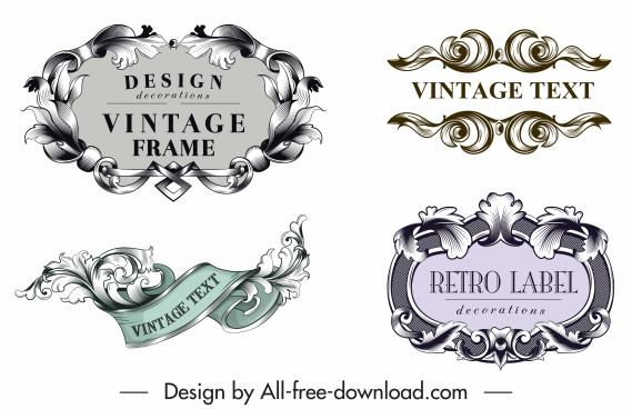 label design elements elegant vintage design