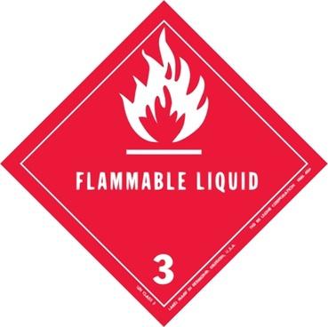Label For Dangerous Goods Class clip art