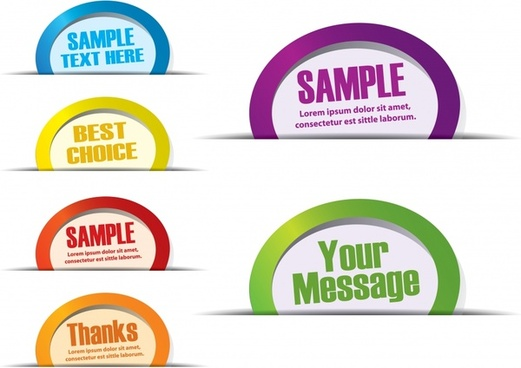labels templates colorful modern rounded shapes