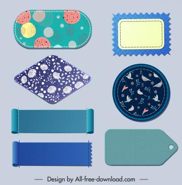 label tag templates various shapes blank natural decor