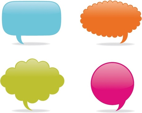 sticker templates colored blank decor speech bubble icons