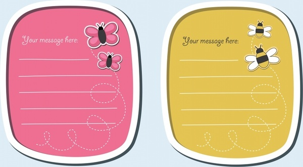 labels dialog bee cartoon stickers vector
