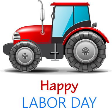 labor day card design with heavy car