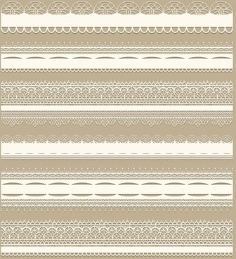 lace borders ornate vector