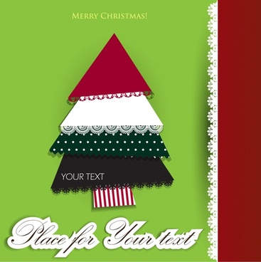 lace christmas jigsaw label vector