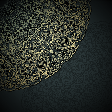 lace decorative pattern vector background