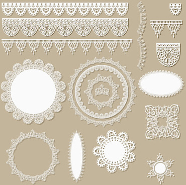 lace frames with borders ornaments vector