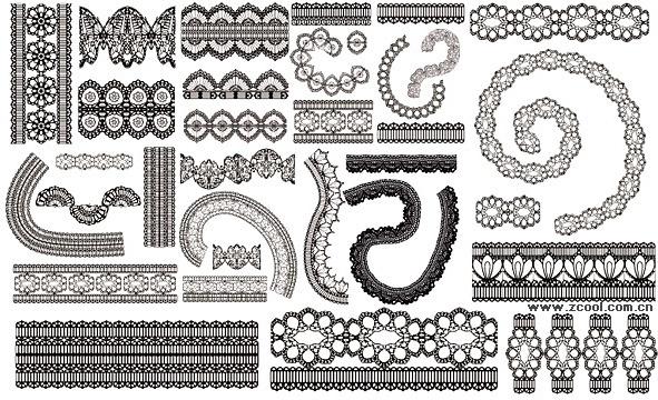 lace lace pattern vector 2
