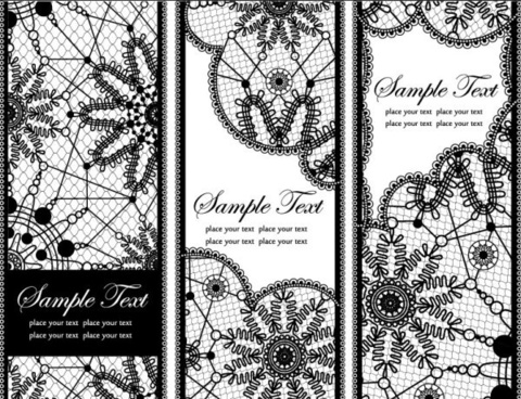 lace pattern background 02 vector