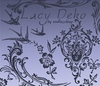 Lacy Deko Brushes