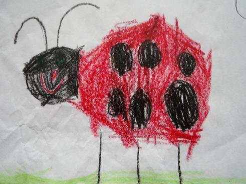 ladybug beetle children drawing