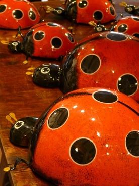 ladybug pottery ceramic
