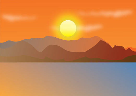 sunset free vector download 279 free vector for commercial use rh all free download com mountain sunset clipart Mountain Range Clip Art