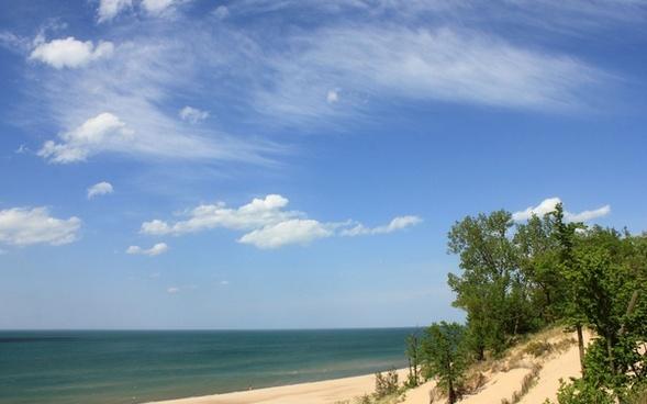 lake and sky at indiana dunes national lakeshore indiana