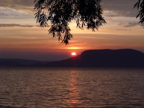 lake balaton sunset badacsony