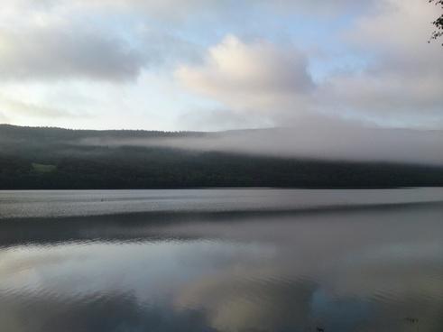 lake dawn sunrise