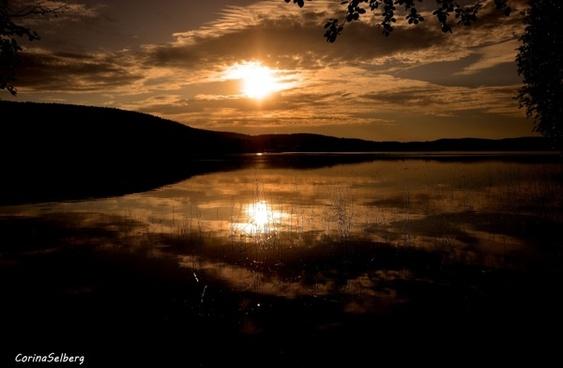 lake evening landscapes