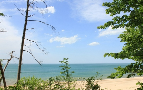 lake landscape at indiana dunes national lakeshore indiana