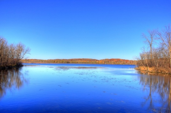 lake landscape at kettle moraine north wisconsin