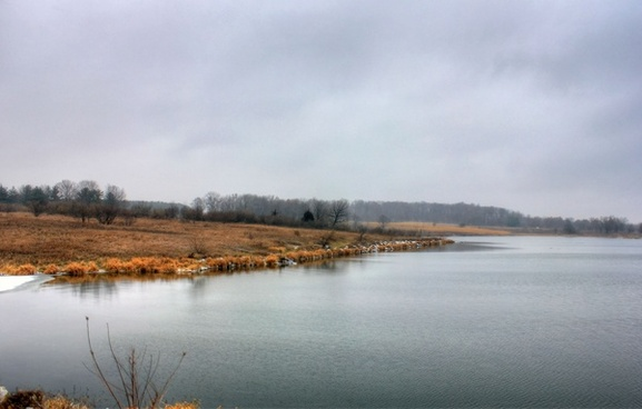 lake landscape at shabbona lake state park illinois