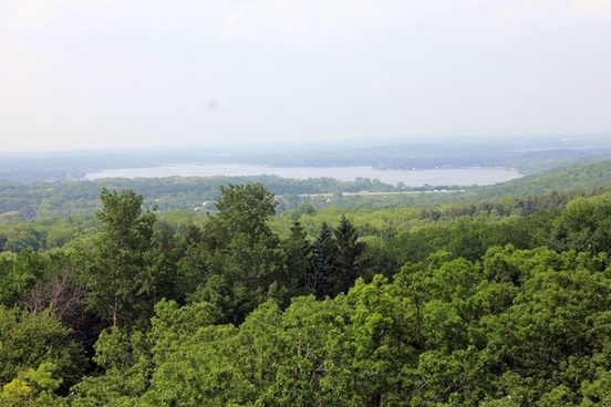 lake landscape view at lapham peak state park wisconsin
