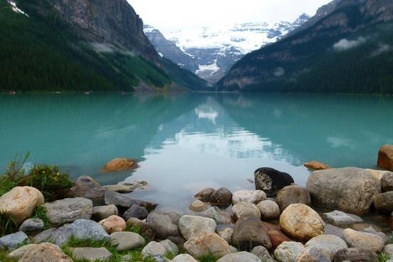 lake louise glacier blue