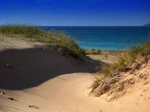 lake michigan sand dunes water