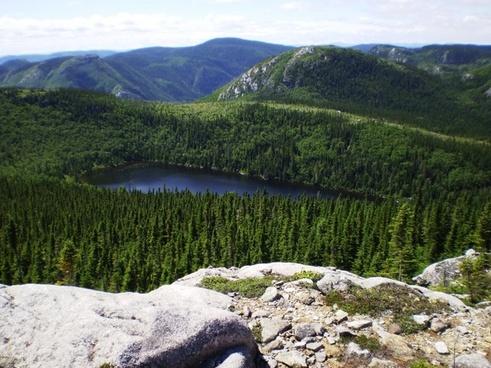 lake mountain landscape