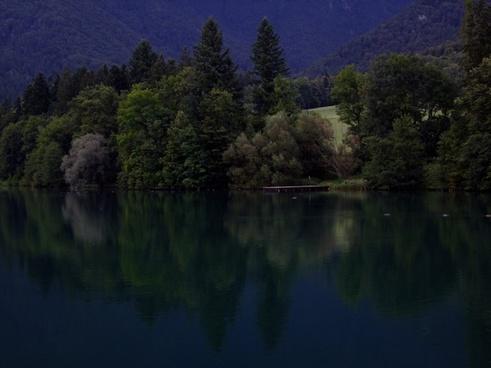 lake night slovenia