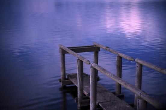 lake sunset romantic