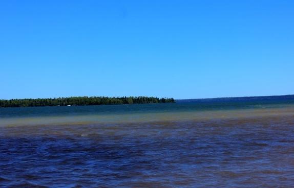 lake superior bay at sleeping giant provincial park ontario canada